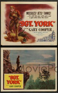 2w671 SERGEANT YORK 4 LCs R58 Gary Cooper, Howard Hawks, WWI, missiles, tanks.. and jets?