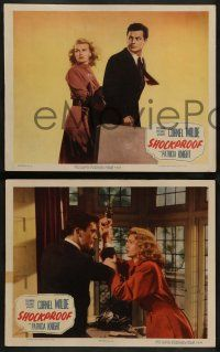 2w537 SHOCKPROOF 6 LCs '49 directed by Douglas Sirk, Cornel Wilde & Patricia Knight on the run!
