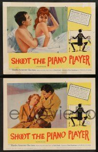2w573 SHOOT THE PIANO PLAYER 5 LCs '62 Francois Truffaut's Tirez sur le pianiste, Charles Aznavour