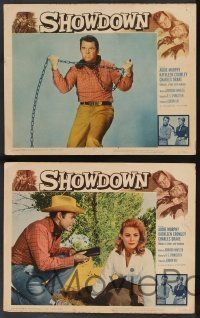 2w538 SHOWDOWN 6 LCs '63 Audie Murphy, pretty Kathleen Crowley, great cowboy images!