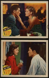 2w803 SIDE STREET 3 LCs '50 Farley Granger, Cathy O'Donnell, noir directed by Anthony Mann!