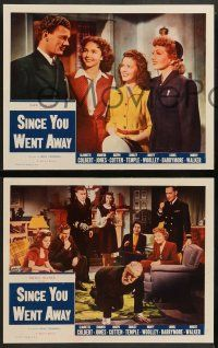 2w676 SINCE YOU WENT AWAY 4 LCs R56 Claudette Colbert, Jennifer Jones, Shirley Temple, Barrymore!