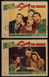 2w805 SING YOU SINNERS 3 LCs '38 Bing Crosby, Fred MacMurray, Ellen Drew, young Donald O'Connor!