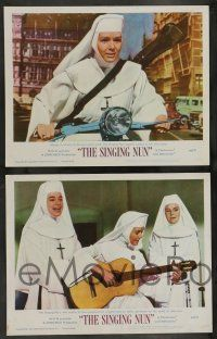 2w350 SINGING NUN 8 LCs '66 great images of Debbie Reynolds in nun's habit, Ricardo Montalban!