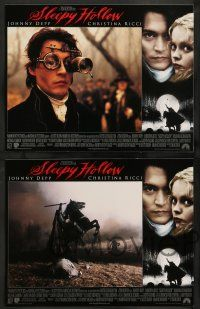 2w352 SLEEPY HOLLOW 8 LCs '99 Tim Burton, Johnny Depp, Christina Ricci, Miranda Richardson!