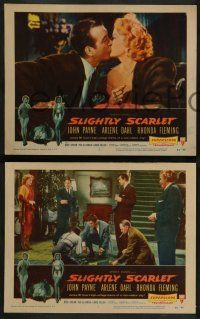 2w539 SLIGHTLY SCARLET 6 LCs '56 James M. Cain, sexy Rhonda Fleming, John Payne, Arlene Dahl!