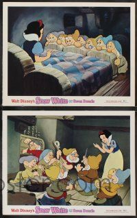 2w462 SNOW WHITE & THE SEVEN DWARFS 7 LCs R75 Walt Disney animated cartoon fantasy classic!