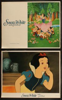 2w353 SNOW WHITE & THE SEVEN DWARFS 8 LCs R1987 Walt Disney animated cartoon fantasy classic!