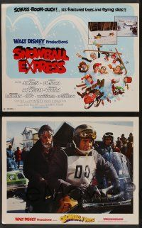 2w354 SNOWBALL EXPRESS 8 LCs '72 Walt Disney, Dean Jones, wacky winter fun!