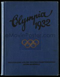 2x002 OLYMPIA 1932 German hardcover book '32 wonderful fully-illustrated Summer Olympics history!
