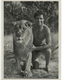 2x036 BUSTER CRABBE 5x7 German Ross postcard '33 as Kaspa the Lion Man in King of the Jungle!