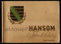 2x016 HANSOM FILMBILDER German 9x12 cigarette card album '30s contains 168 cards on 37 pages!