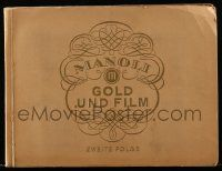 2x019 MANOLI GOLD UND FILM 2nd series German 9x12 cigarette card album '30s 168 cards on 38 pages!