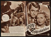 2x053 ARSENIC & OLD LACE German program R57 Cary Grant, Priscilla Lane, Frank Capra, different!