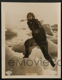 2x032 S.O.S. EISBERG set of 3 German LCs '33 portraits of polar explorers, one w/ spear on iceberg!