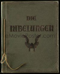 2x012 DIE NIBELUNGEN German 10x13 cigarette card album '24 contains 75 cards on 15 pages!
