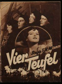 2x043 4 DEVILS German program '29 F.W. Murnau, different images of circus acrobat Janet Gaynor!