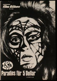 2x044 ACID German program '68 LSD, wild different images of crazed drug users, body painting!