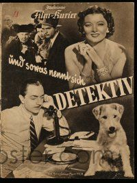 2x047 AFTER THE THIN MAN German program '38 different images of William Powell, Myrna Loy & Asta!
