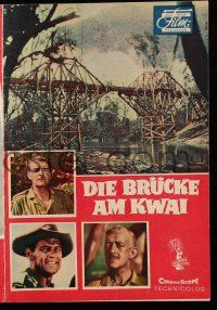 2x070 BRIDGE ON THE RIVER KWAI German program '58 Holden, Guinness, Sears, David Lean, different!