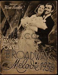 2x072 BROADWAY MELODY OF 1938 German program '38 Robert Taylor, Eleanor Powell, cool & different!