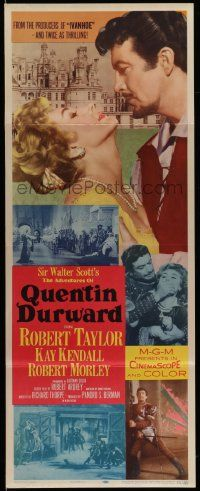 2y003 ADVENTURES OF QUENTIN DURWARD insert '55 English hero Robert Taylor romances Kay Kendall!