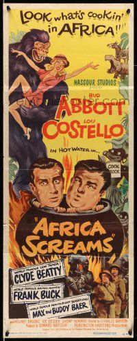 2y005 AFRICA SCREAMS insert '49 art of natives cooking Bud Abbott & Lou Costello in cauldron!