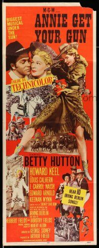 2y012 ANNIE GET YOUR GUN insert R56 Betty Hutton as the greatest sharpshooter, Howard Keel
