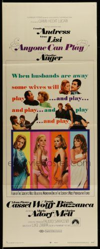 2y013 ANYONE CAN PLAY insert '68 sexiest near-naked Ursula Andress, Virna Lisi, Auger, Mell