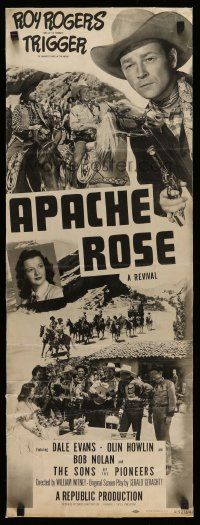 2y015 APACHE ROSE insert R52 great images of cowboy Roy Rogers & Dale Evans!