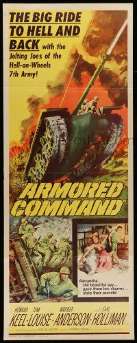 2y017 ARMORED COMMAND insert '61 big ride to Hell & back with the jolting Joes of the 7th Army!