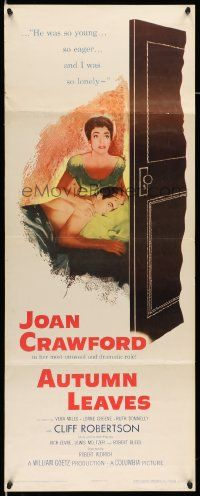 2y018 AUTUMN LEAVES insert '56 Cliff Robertson was young & eager and Joan Crawford was lonely!