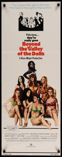 2y031 BEYOND THE VALLEY OF THE DOLLS insert '70 Russ Meyer's girls who are old at twenty!