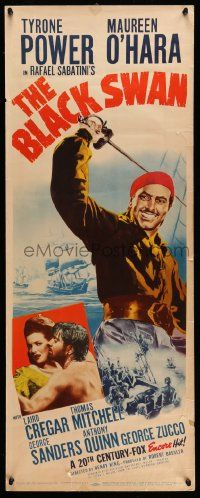 2y034 BLACK SWAN insert R52 cool images of swashbuckler Tyrone Power & Maureen O'Hara!