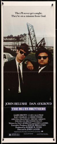 2y038 BLUES BROTHERS insert '80 John Belushi & Dan Aykroyd are on a mission from God!