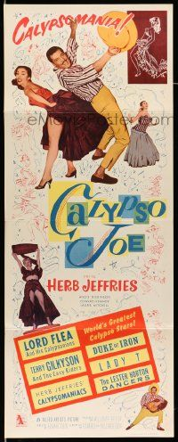 2y057 CALYPSO JOE insert '57 Herb Jeffries, sexy Angie Dickinson, bongo beat, cool images!