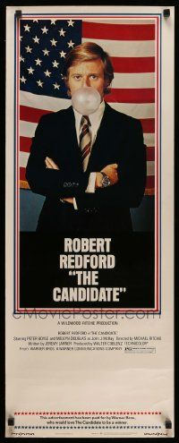 2y060 CANDIDATE insert '72 great image of candidate Robert Redford blowing a bubble!