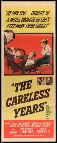 2y066 CARELESS YEARS insert '57 girls from the right homes stumble into the wrong kind of love!