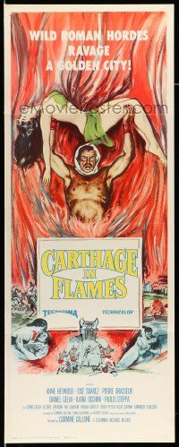 2y071 CARTHAGE IN FLAMES insert '61 Cartagine in Fiamme, Anne Heywood, sexy pulp art!