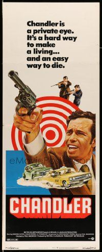 2y080 CHANDLER insert '71 Warren Oates, an easy way to die, cool car chase art!