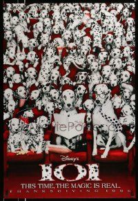 2z006 101 DALMATIANS teaser DS 1sh '96 Walt Disney live action, wacky image of dogs in theater!