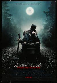 2z007 ABRAHAM LINCOLN: VAMPIRE HUNTER style A revised advance DS 1sh '12 Benjamin Walker w/axe!