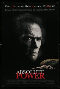 2z008 ABSOLUTE POWER 1sh '97 great image of star & director Clint Eastwood!