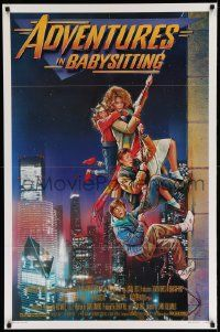 2z011 ADVENTURES IN BABYSITTING 1sh '87 artwork of young Elisabeth Shue by Drew Struzan!