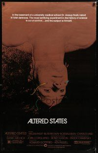 2z029 ALTERED STATES foil 1sh '80 William Hurt, Paddy Chayefsky, Ken Russell, sci-fi!