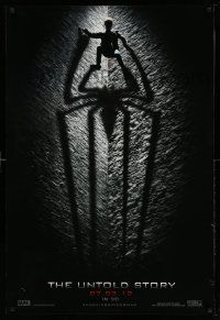 2z033 AMAZING SPIDER-MAN teaser DS 1sh '12 shadowy image of Andrew Garfield climbing wall!