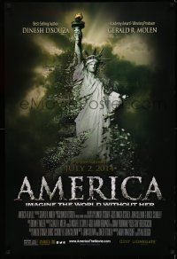 2z038 AMERICA: IMAGINE THE WORLD WITHOUT HER advance DS 1sh '14 Statue of Liberty crumbling!