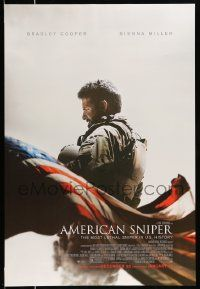 2z043 AMERICAN SNIPER advance DS 1sh '14 Clint Eastwood, Bradley Cooper as legendary Chris Kyle!