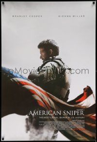 2z044 AMERICAN SNIPER December int'l advance DS 1sh '14 Eastwood, Cooper as legendary Chris Kyle!