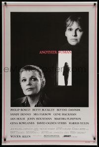 2z054 ANOTHER WOMAN 1sh '88 Gena Rowlands & Mia Farrow, directed by Woody Allen!